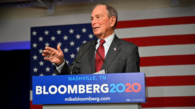 Democratic presidential candidate Bloomberg opens his Tennessee campaign headquarters in Nashville