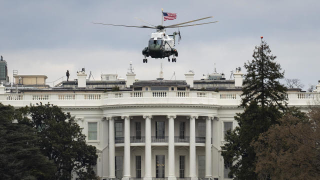 President Trump Departs White House En Route To Palm Beach, Florida