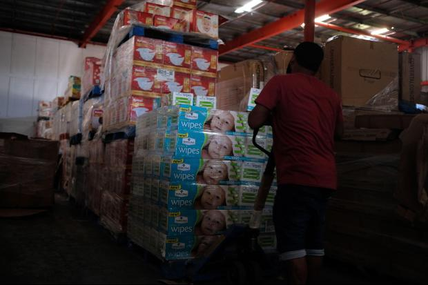 Puerto Rico emergency supplies in Ponce warehouse