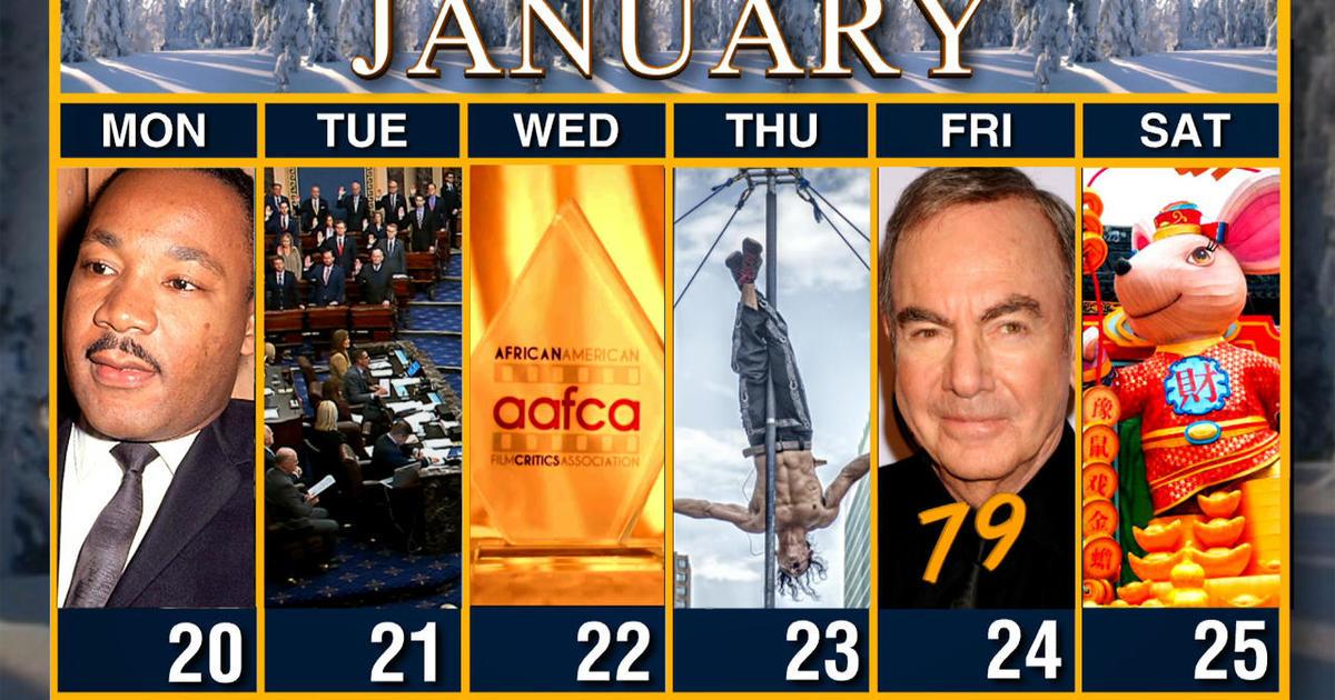 Calendar: Week of January 20
