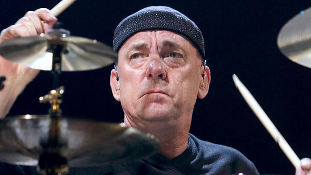 FILE PHOTO - Rush drummer Neil Peart performs during a sold-out show at the MGM Grand Garden Arena in Las Vegas