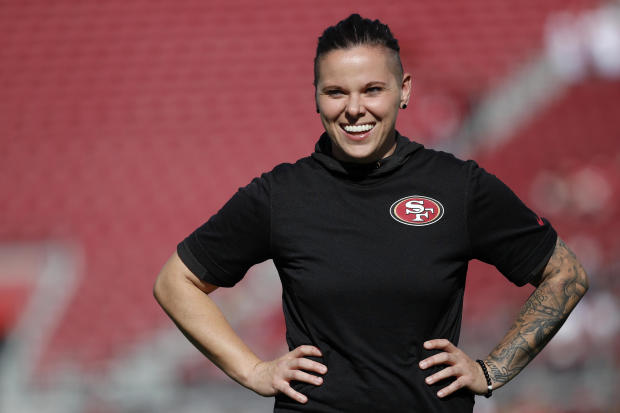 49ers' Katie Sowers to make history as first female and openly gay person to coach at Super Bowl