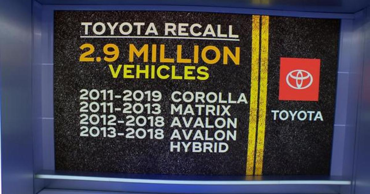 Toyota recalls 2.9 million vehicles over air bag issue