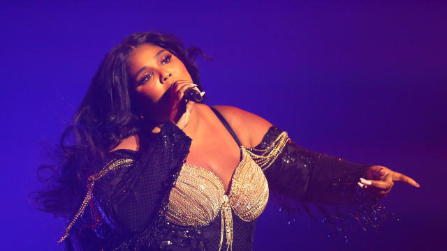 Lizzo performs at the Sydney Opera House on January 6, 2020, in Sydney, Australia.