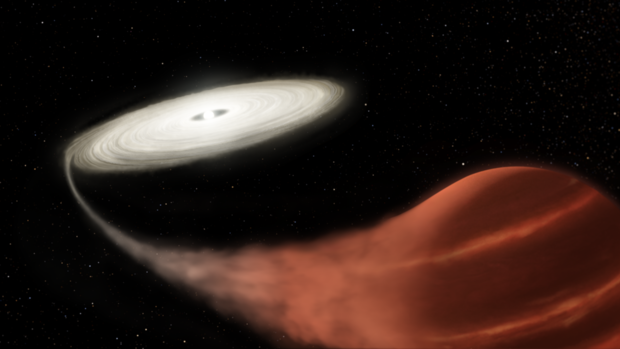 """Vampire"" star discovered in the midst of a feeding frenzy"