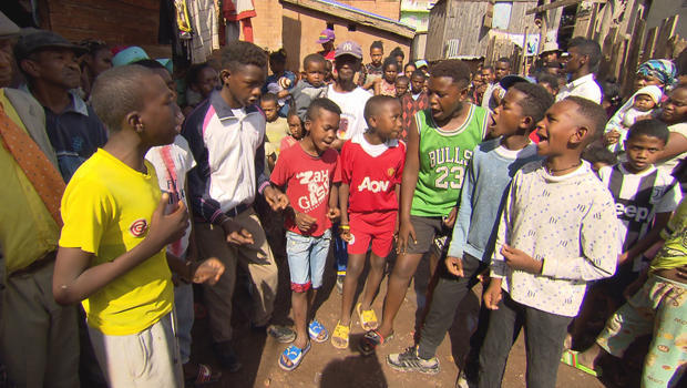 Young boys' songs of joy rise from the slums of Madagascar