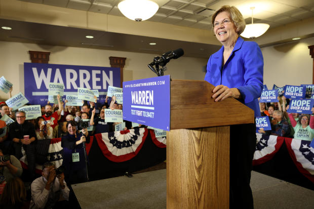 Elizabeth Warren — Iowa caucuses