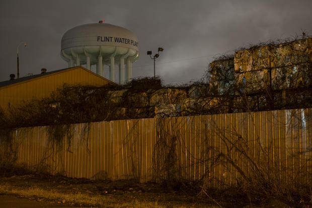 FLINT, MICHIGAN - DECEMBER 21: The Flint City Water Plant water