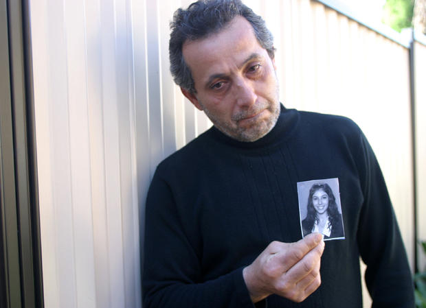 Tony Nassif, with a photograph of his 18-year-old daughter Jehan Nassif, who die