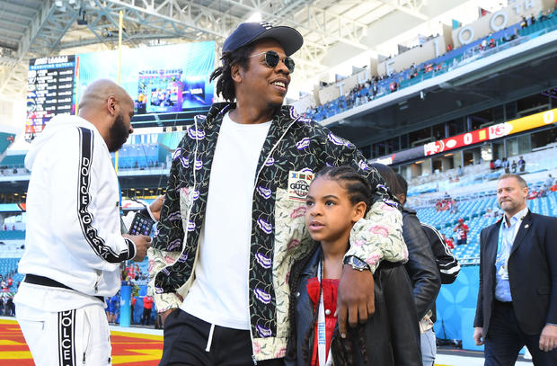 Jay-Z and his daughter Blue Ivy