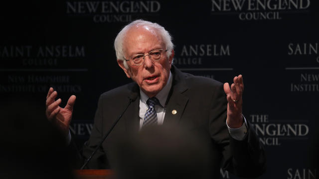 Democratic Presidential Candidate Sen. Bernie Sanders (I-VT)Speaks To Voters At Saint Anselm College