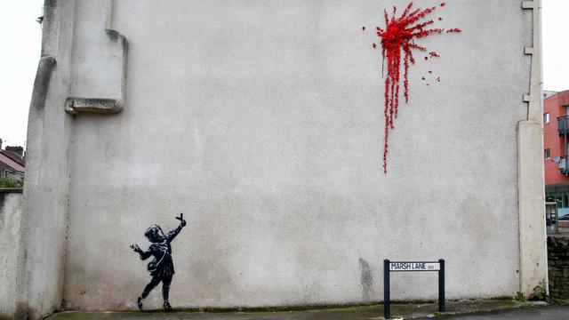 BRITAIN-ART-BANKSY