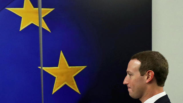 Facebook Chairman and CEO Mark Zuckerberg is seen before a meeting at EU Commission headquarters in Brussels