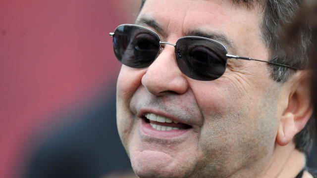 Former San Francisco 49ers owner Eddie DeBartolo Jr. watches warm-ups before a game against the Tampa Bay Buccaneers December 15, 2013, at Raymond James Stadium in Tampa, Florida.