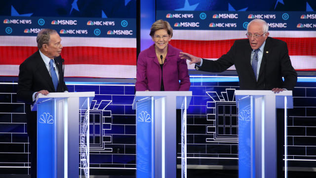 Democratic Presidential Candidates Debate In Las Vegas Ahead Of Nevada Caucuses