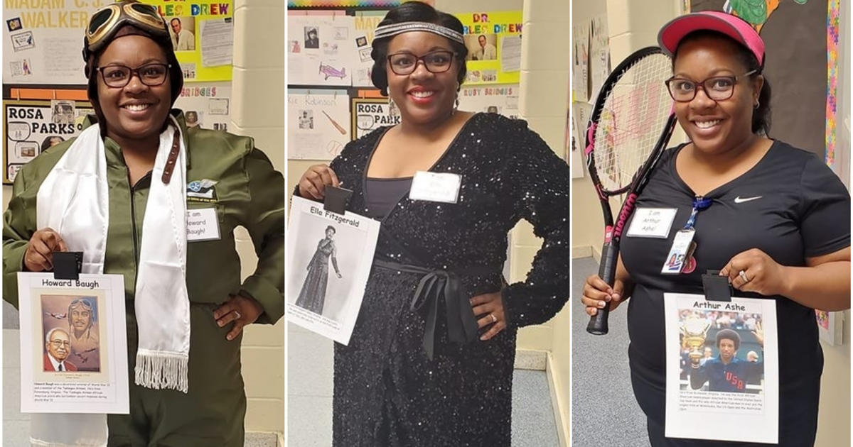 Black History Month: First grade teacher dresses up as a different black trailblazer every day of February, in Suffolk, Virginia thumbnail