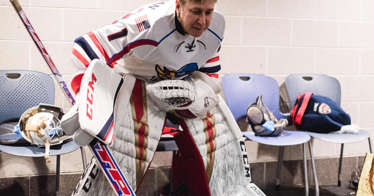 How hard is it for the average Joe to become a goalie? Steve Hartman tests it out