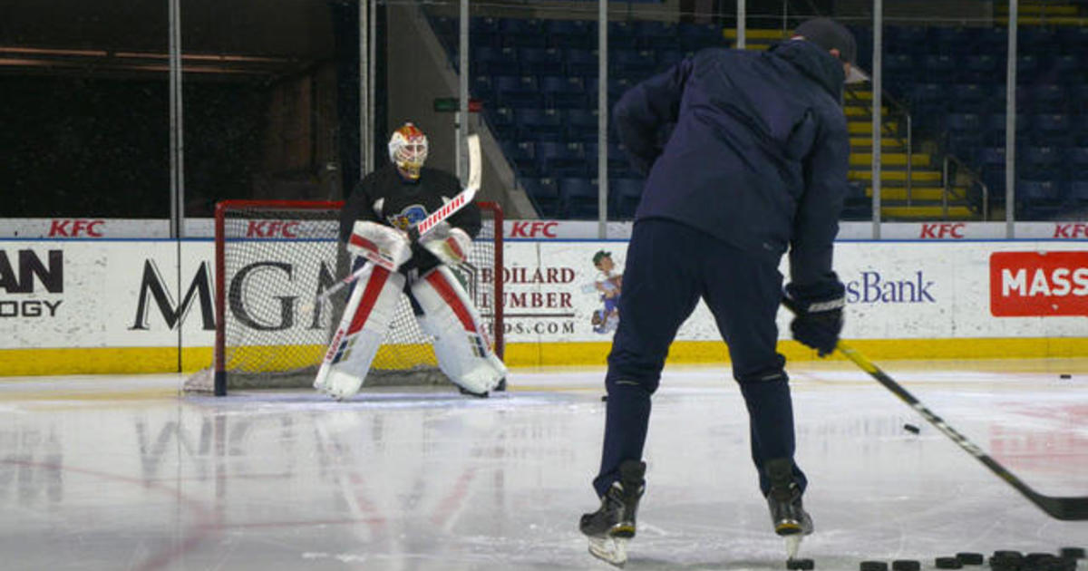 How hard is it for the average Joe to become a goalie? Steve Hartman experiments on the ice