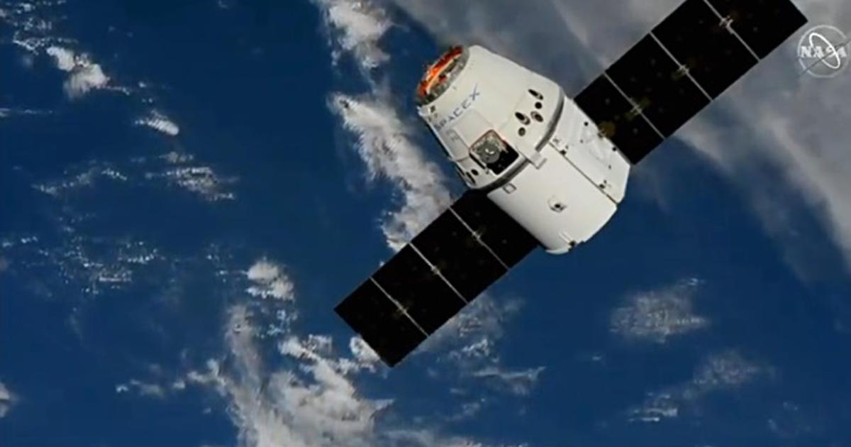 SpaceX Dragon cargo ship reaches area put in milestone flight thumbnail