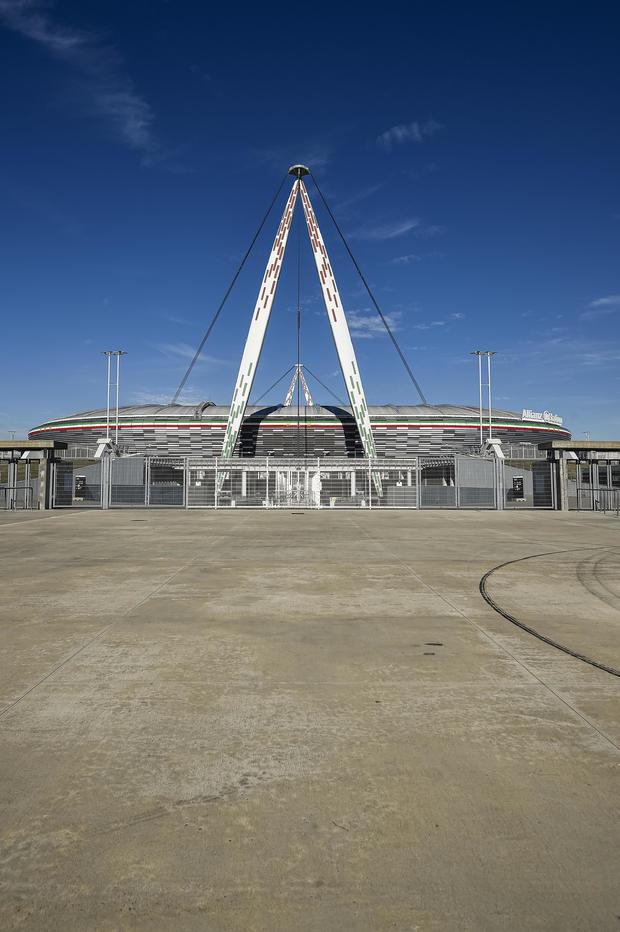 General view of desert Allianz Stadium (also known as