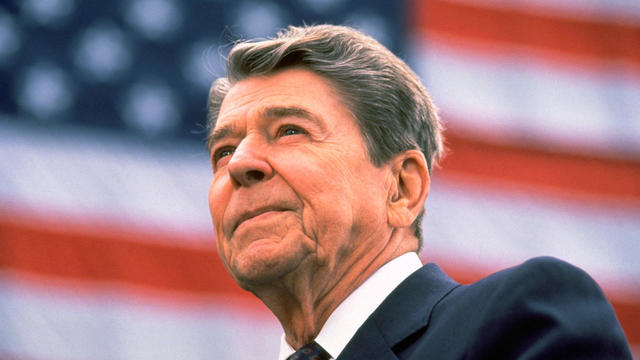 Ronald Reagan Campaigns For Reelection