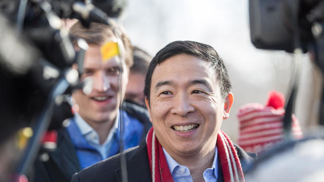 Presidential Candidate Andrew Yang Campaigns In New Hampshire Ahead Of Primary