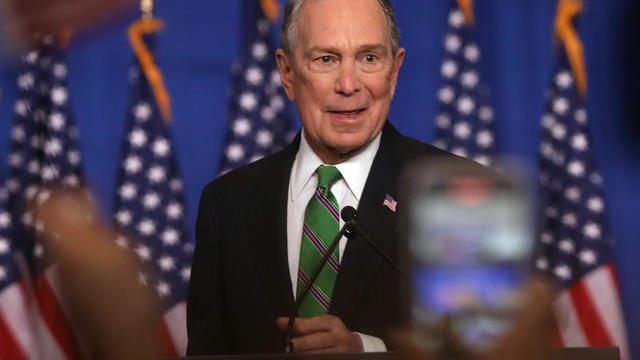 Former Democratic Presidential Candidate Mike Bloomberg Addresses His Staff And The Media, Upon Suspending His Presidential Bid