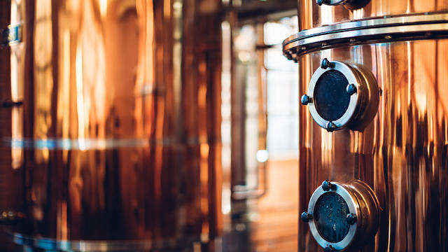Industrial equipment for brandy production