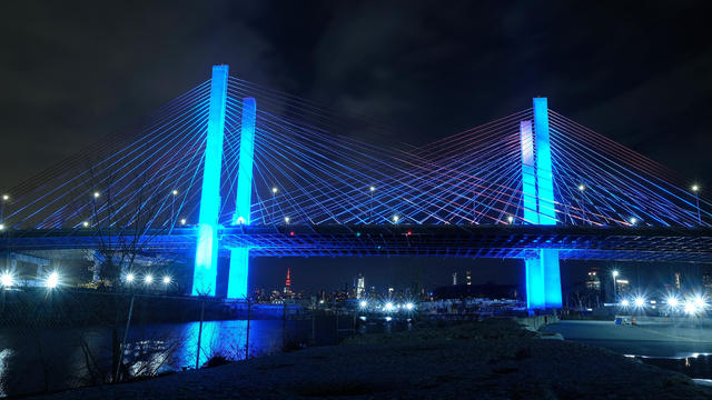 Across U.S., Stadiums, Landmarks Illuminated In Blue To Honor Essential Workers
