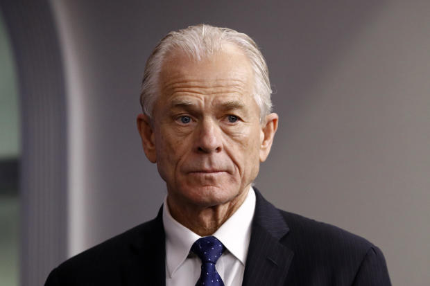 White House trade adviser Peter Navarro attends a coronavirus task force briefing at the White House March 21, 2020, in Washington.