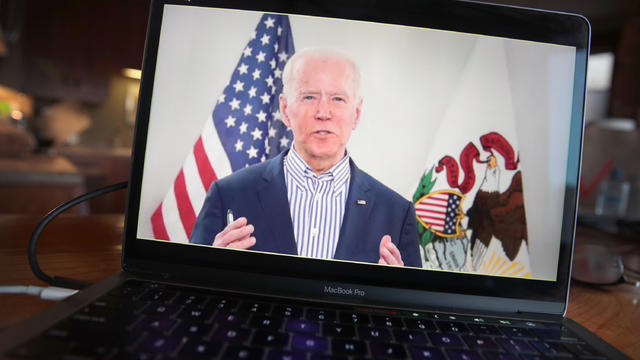 Democratic Presidential Candidate Joe Biden Holds Virtual Town Hall, As Public Gatherings Are Curtailed Due To Coronavirus