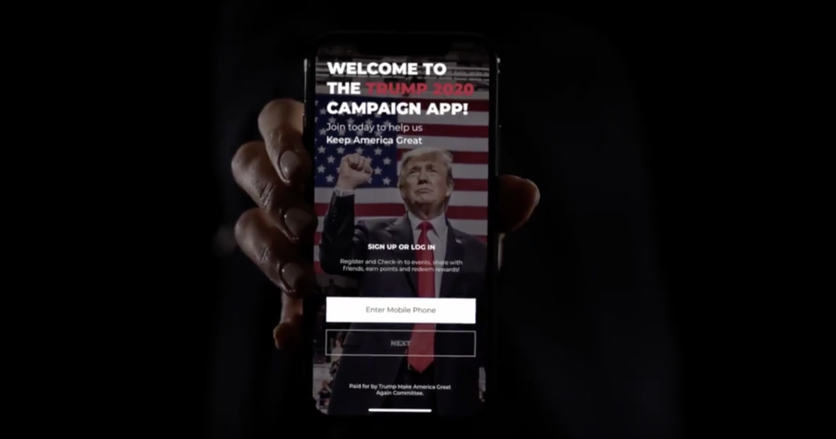 Trump campaign app is tapping a