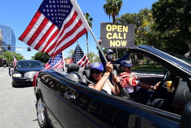 coronavirus shutdown protest