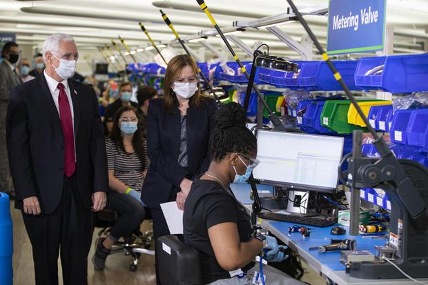 Mike Pence at GM plant — ventilators