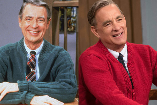 Fred Rogers Tom Hanks The Stars Of Movies Based On True Stories And The People They Portrayed Pictures Cbs News