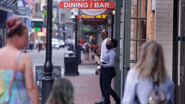 Louisiana reopens: Smaller crowds on Bourbon Street