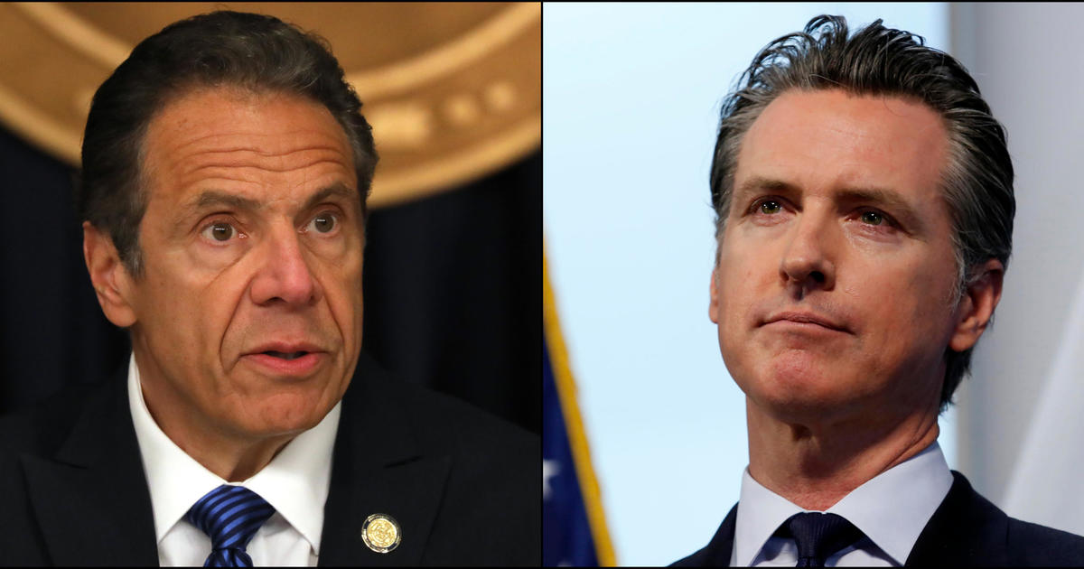 After initial praise, Governors Cuomo and Newsom face political heat over COVID-19 response - CBS News