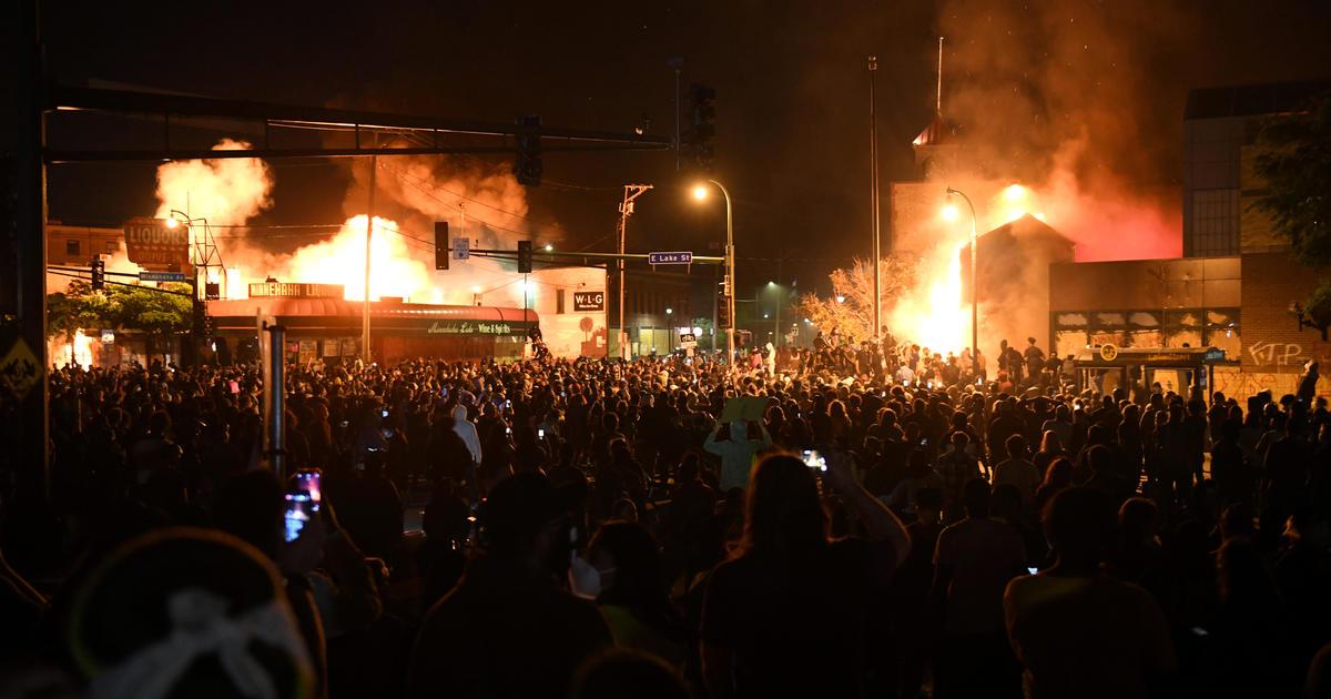 Minneapolis police precinct set ablaze as protests continue