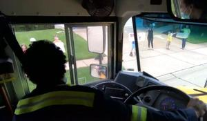 Missouri school bus drivers drive empty buses past usual stops to say farewell to students before summer break