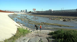 Toxic waste in the Tijuana River spilling into California