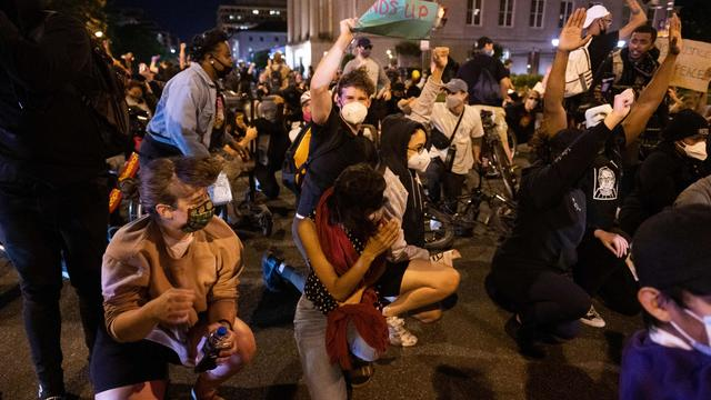 US-POLITICS-RACE-UNREST-POLICE-DEMONSTRATION