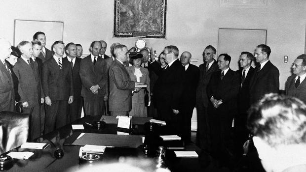Truman Swears Oath 1945