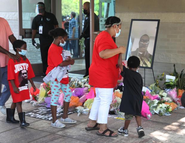 George Floyd memorial in Houston