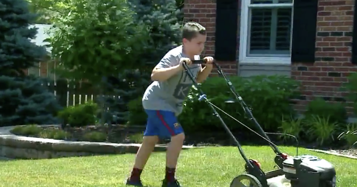 11-year-old boy mows lawns to raise money for Black Lives Matter organization