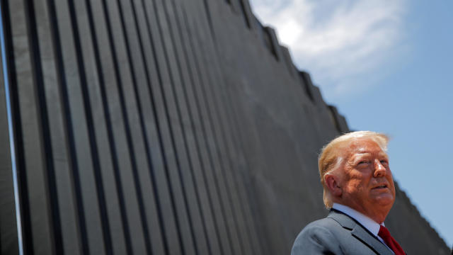 U.S. President Trump visits the U.S.-Mexico border in San Luis, Arizona