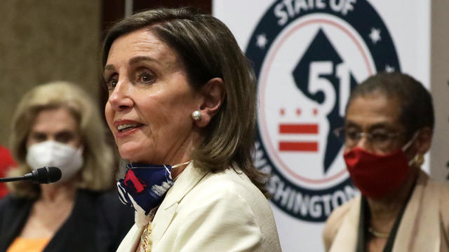 Democratic House Leaders Hold News Conference Ahead Of Historic D.C. Statehood Bill Vote