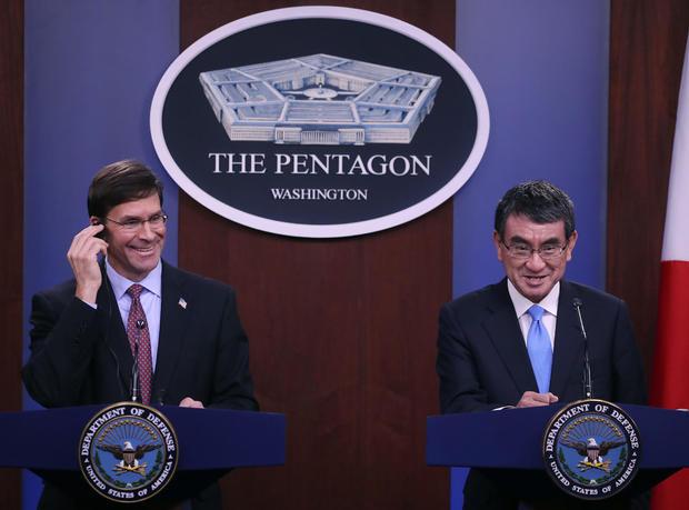 Defense Secretary Mark Esper Hosts Japanese Defense Minister Taro Kono At The Pentagon