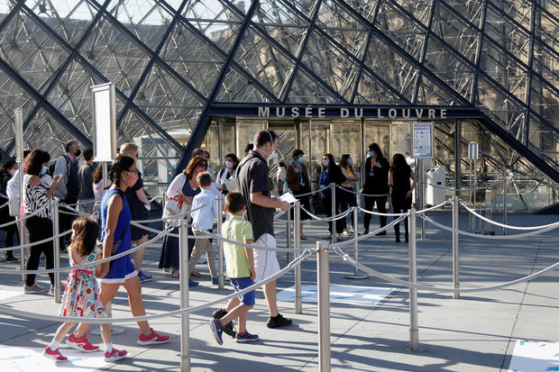 The Louvre museum reopens in Paris