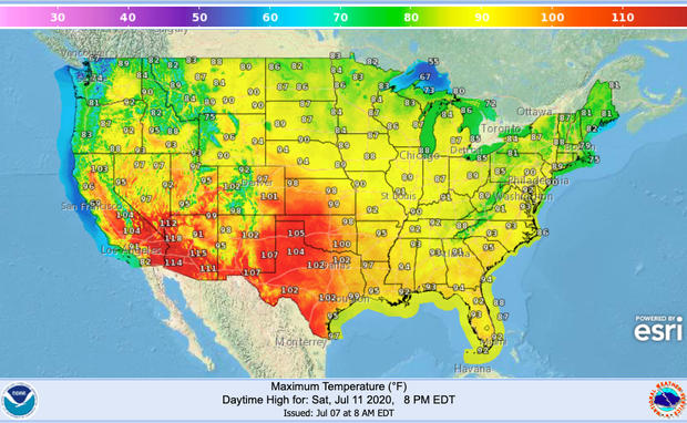 "Relentless heat wave to bake the U.S. for ""multiple weeks"""