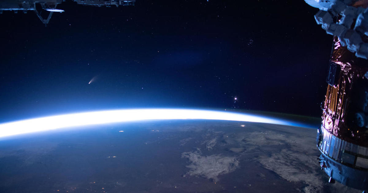 Stunning video from the International Space Station shows comet Neowise soaring past Earth